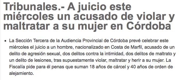 Córdoba, escuchas ilegales, violencia de género y violación