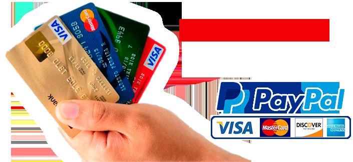 Tarjeta de credito, debito o paypal